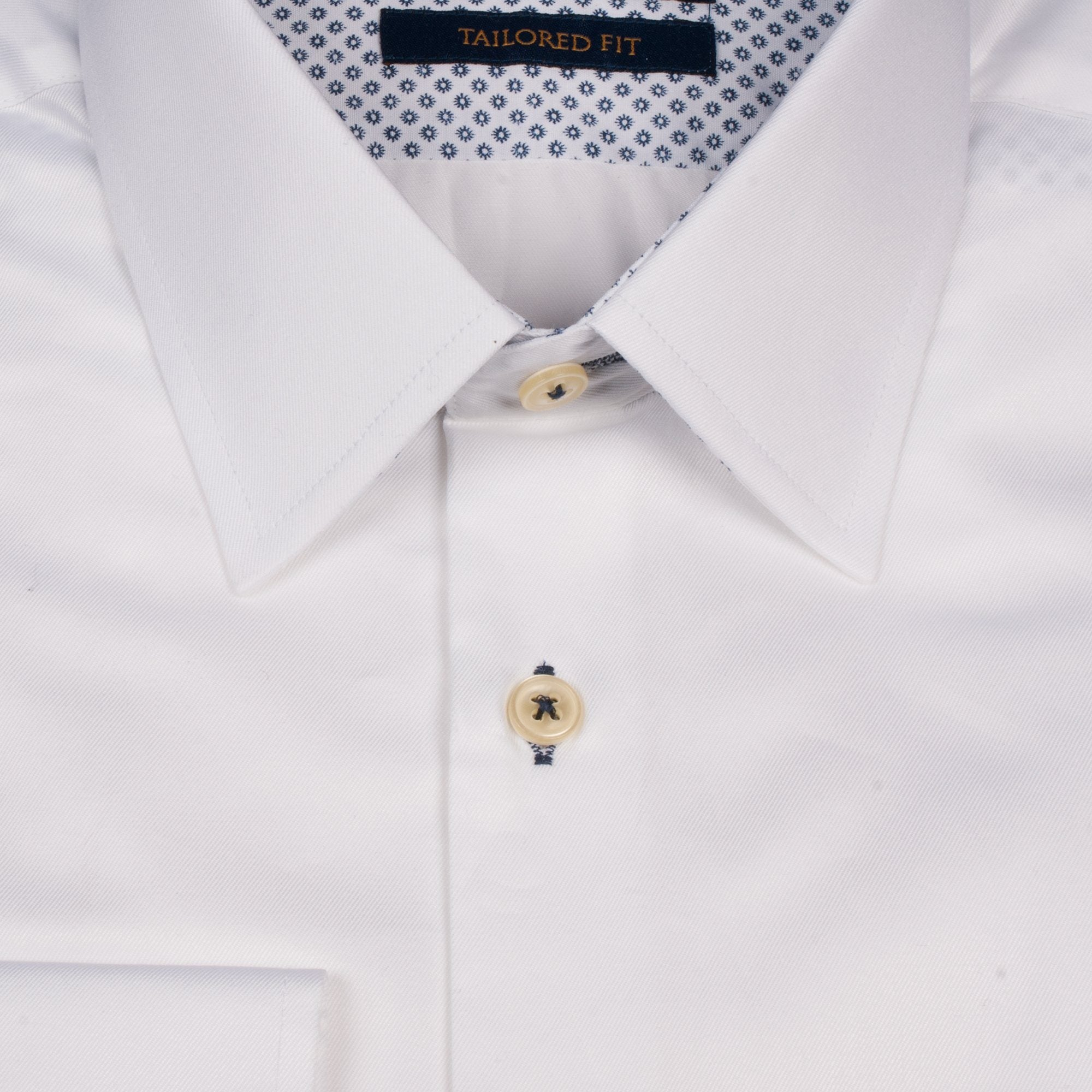 Pointy Collar White - Leonard Silver