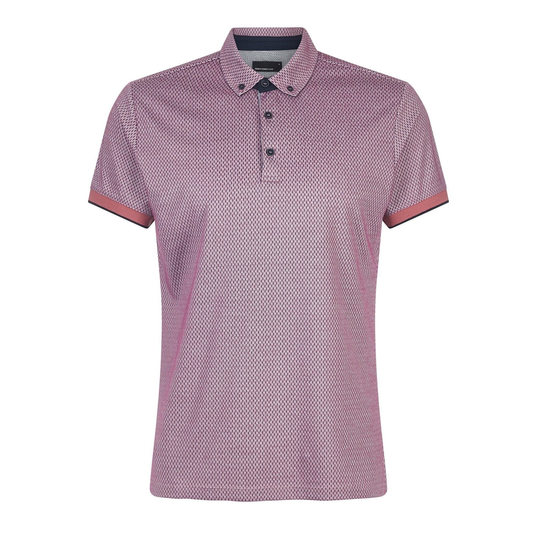 3 Button Pink Polo Shirt