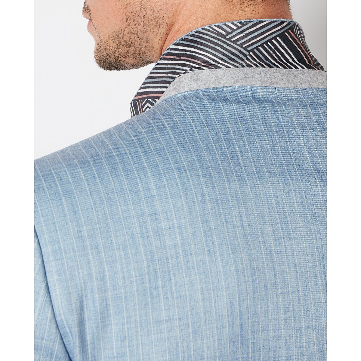Powder Blue Pinstripe Jacket