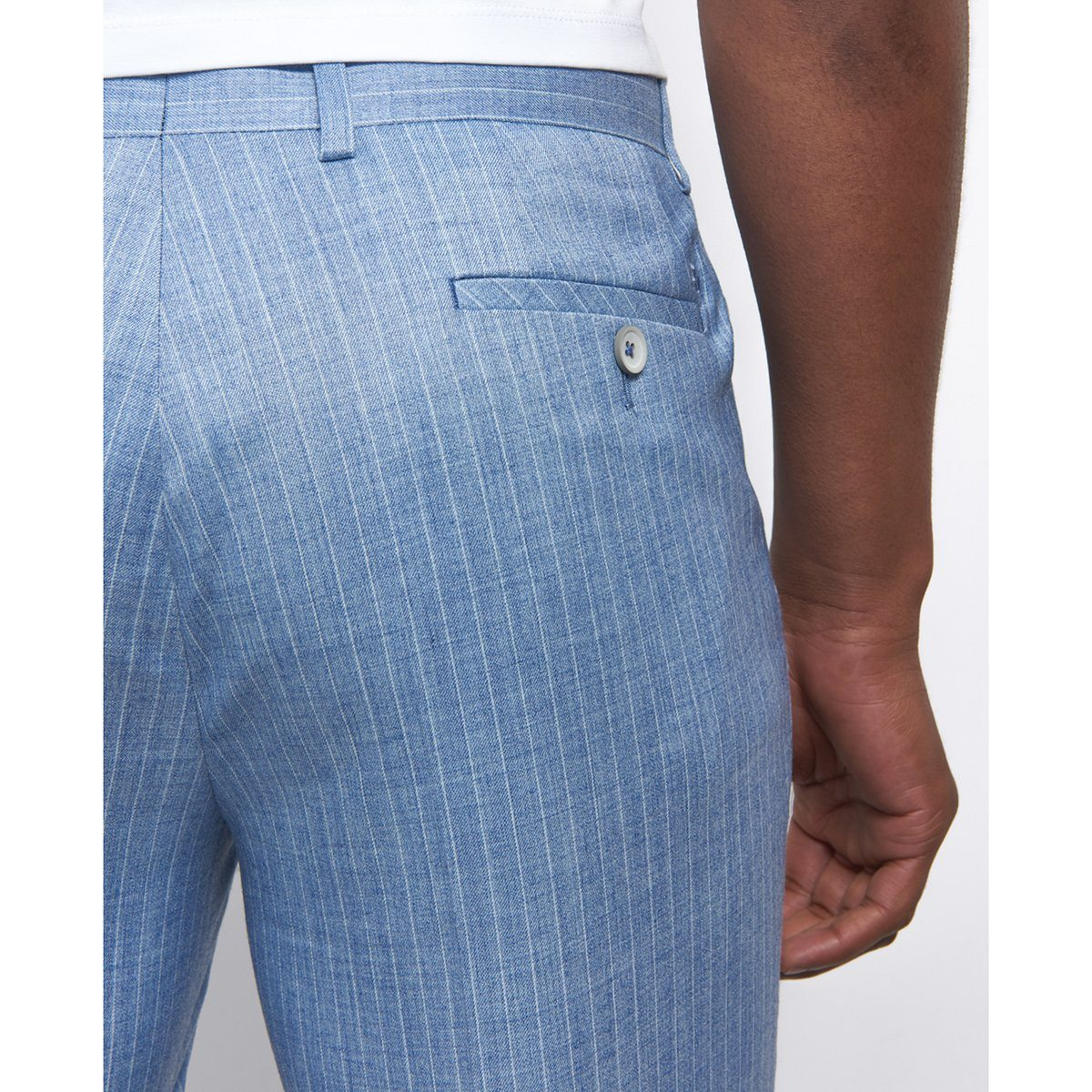 Powder Blue Pin Stripe Trouser