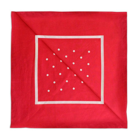 Red/white polka dot Neckerchief - Leonard Silver