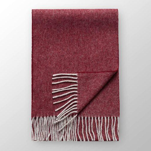 Red Wool Scarf - Leonard Silver