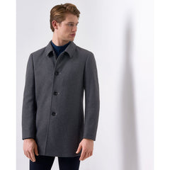 Tailored Wool Coat Dark Grey