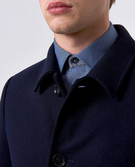 Tailored Wool Coat Navy