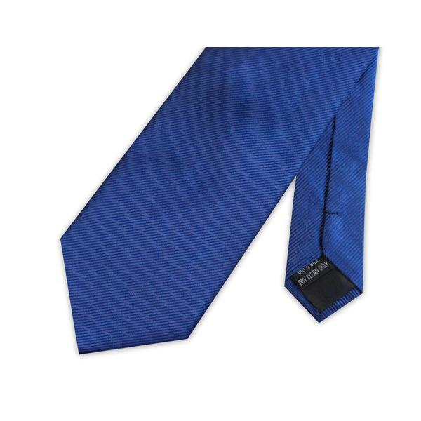 Royal Blue Silk Necktie - Leonard Silver