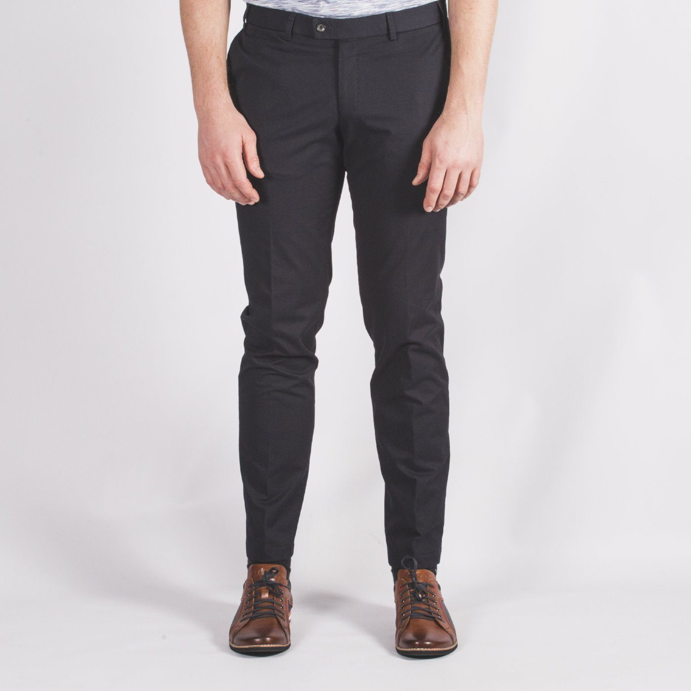 Navy Slim Fit Chino - Leonard Silver