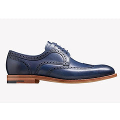 Valiant Navy Painted Brogues