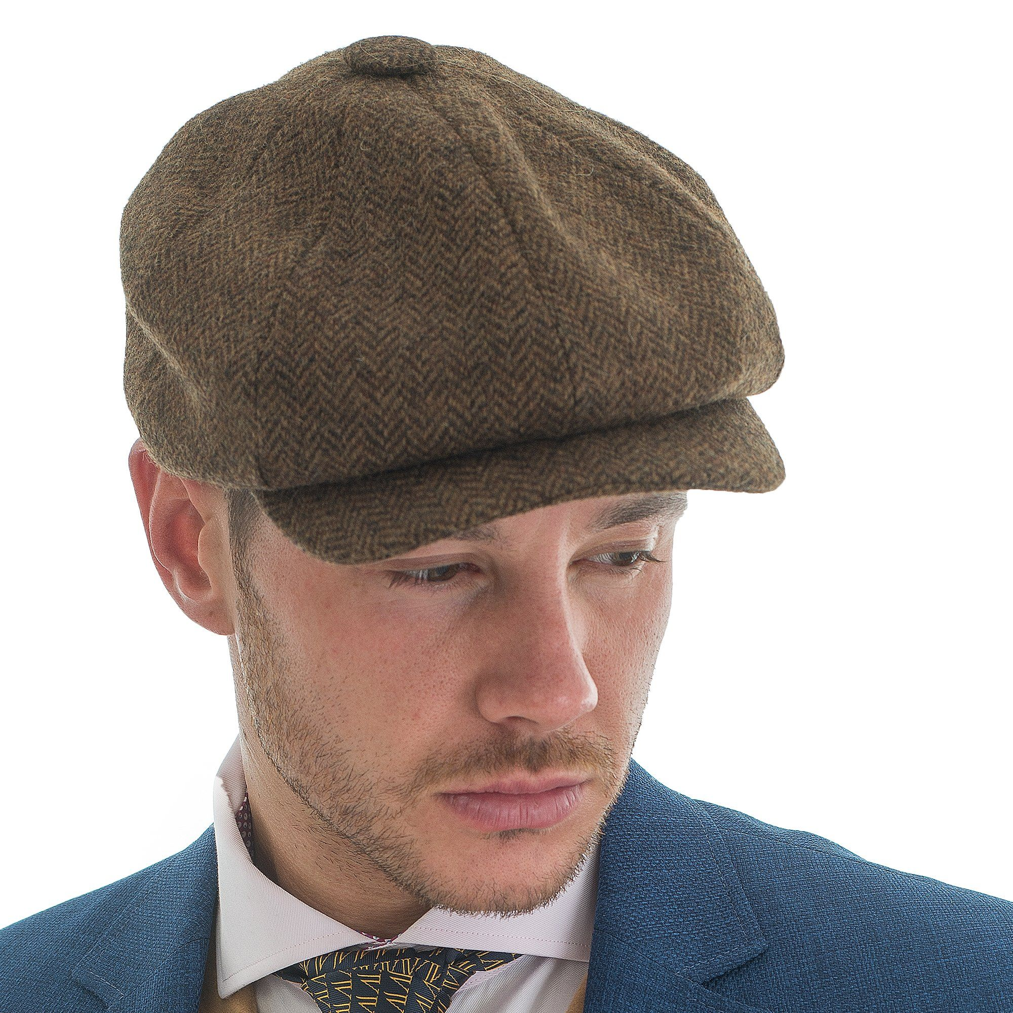 Tweed Herringbone Hat Brown - Leonard Silver 2a5c3f38824