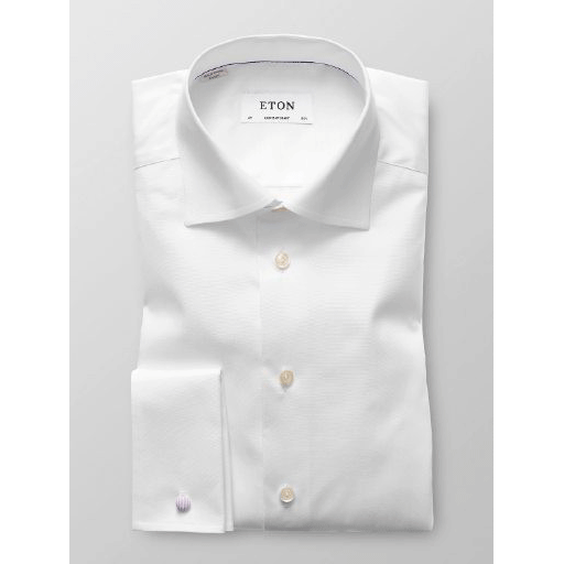 Eton Shirt, Contemporary Fit, White - Leonard Silver