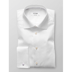 French Cuff Twill Shirt White