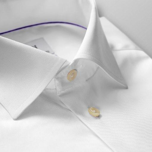 French Cuff Twill Shirt White - Leonard Silver