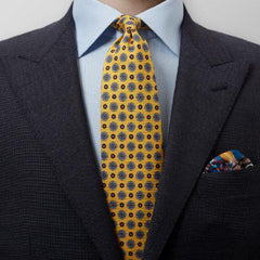 Gold Tie-Multi Circles