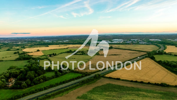 Aerial View Photo of English Countryside Landscape in Buckinghamshire