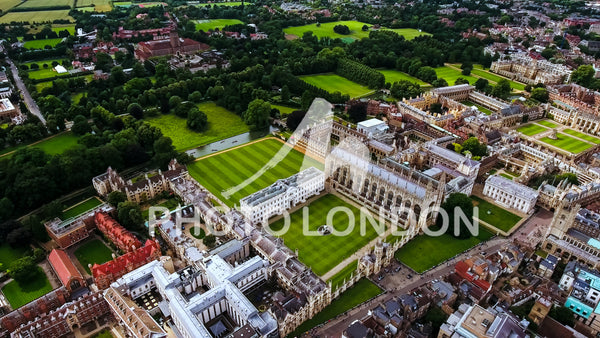 Aerial Stock Photo Of Cambridge University UK