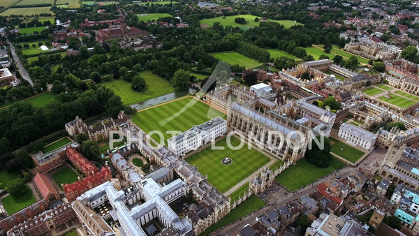 4K Aerial Stock Footage of Cambridge University UK