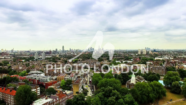 Aerial View Photo of London Urban City around Clapham and Battersea