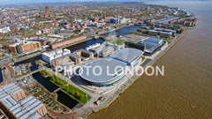 Aerial View Of Liverpool City Footage