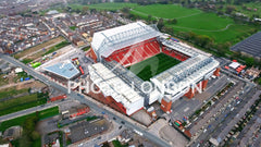 Aerial View Of Anfield Stadium In Liverpool