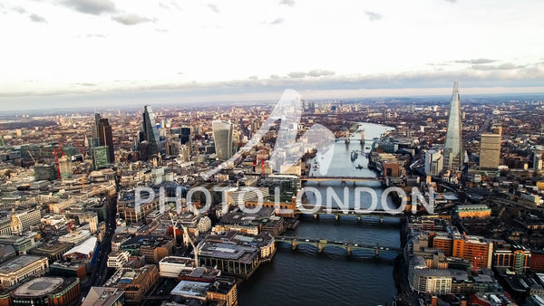 Aerial View Photo of New Skyscrapers In London
