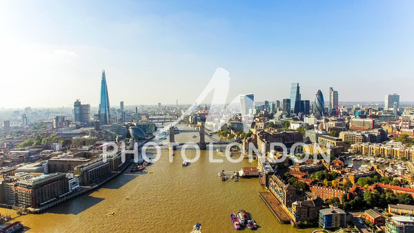 The New London Skyline Aerial Photo