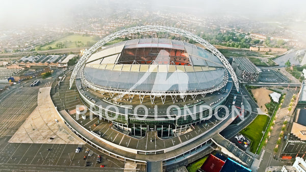 Aerial View Photo of Iconic Wembley Arena Stadium in London