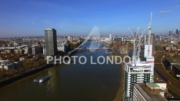 Aerial View Of Construction Building In Central London