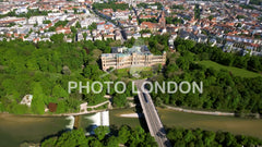 4K Aerial View Of Iconic Maximilianeum In Munich