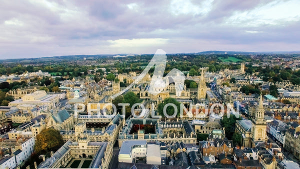 Aerial View Photo of Oxford University