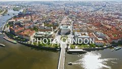 Aerial View Of Prague Old Town Cityscape In Czech Republic
