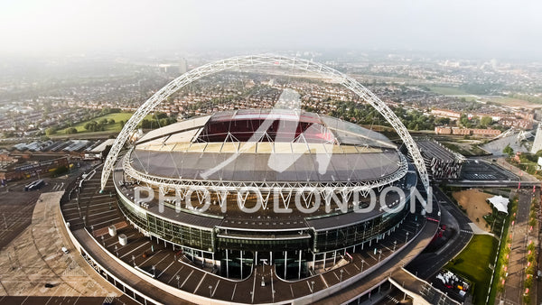 Aerial View Photo of Wembley Stadium in London