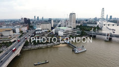 Aerial Urban View City Of London And Waterloo Bridge
