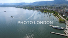 Aerial View Of Lake Zurich In Switzerland