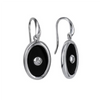 Sterling Silver Onyx drop earrings - Bernice