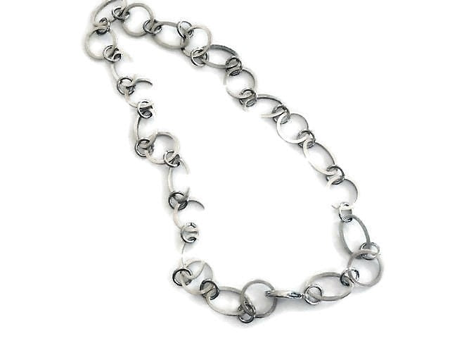 Exquisite handmade silver plated chain