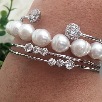 Freshwater pearls and cuff bracelets and bangles