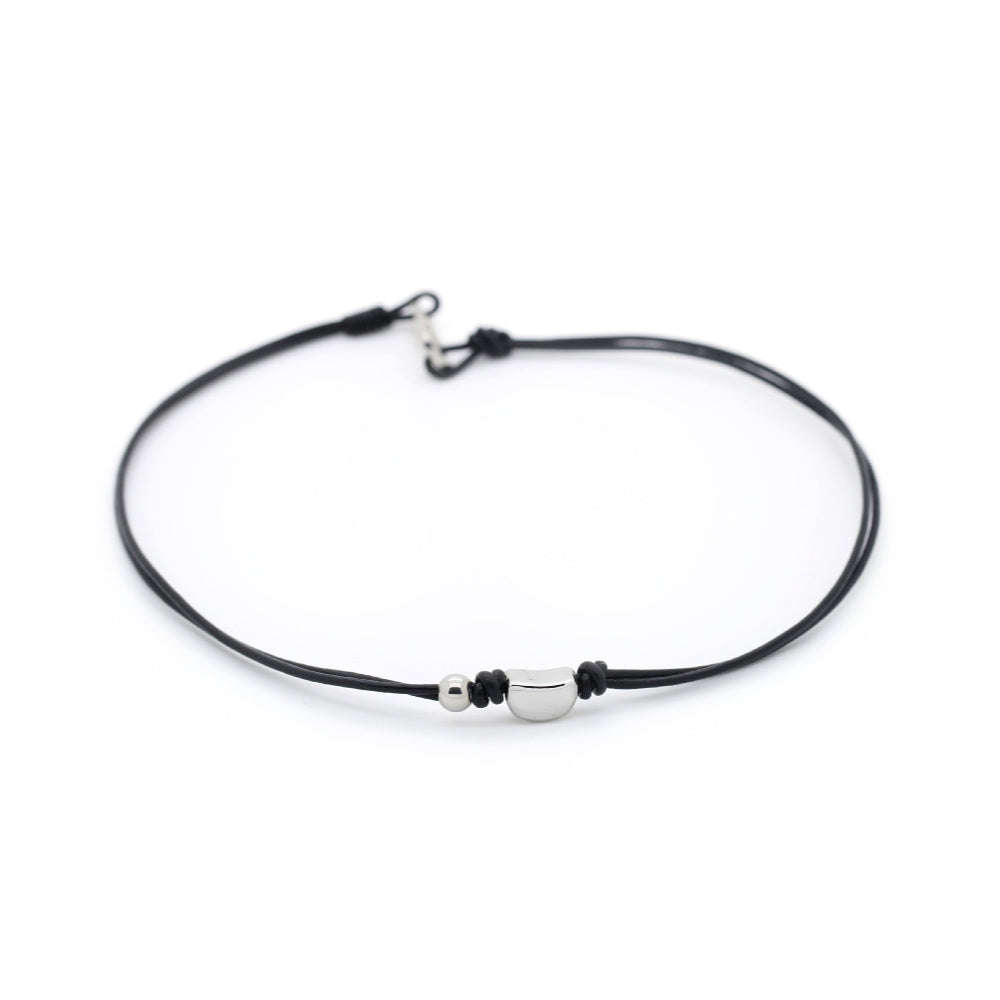 Tyler - Street Style Black Leather Necklet
