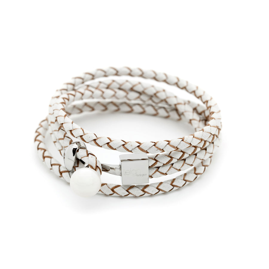 Wrap /stack it  - Veronica leather Wrap Bracelet freshwater pearl