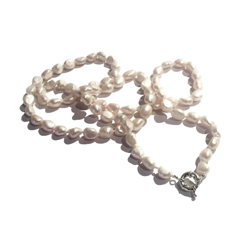freshwater-Pearl-necklace-bracelet-set