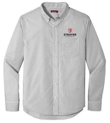Red House ® Open Ground Check Non-Iron Shirt-Black/ White