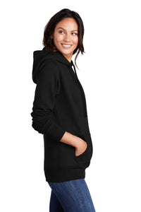 Port & Company ® Ladies Core Fleece Pullover Hooded Sweatshirt-Black