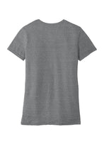 JERZEES ® Ladies Snow Heather Jersey V-Neck T-Shirt-CHARCOAL