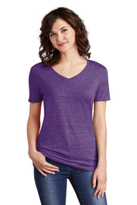 JERZEES ® Ladies Snow Heather Jersey V-Neck T-Shirt-PURPLE