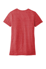 JERZEES ® Ladies Snow Heather Jersey V-Neck T-Shirt-RED