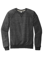 JERZEES ® Snow Heather French Terry Raglan Crew-BLACK