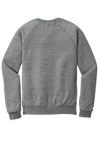 JERZEES ® Snow Heather French Terry Raglan Crew-CHARCOAL