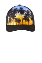Port Authority ® Photo Real Snapback Trucker Cap-Palm Trees
