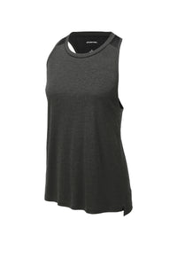 Sport-Tek ® Ladies Endeavor Tank-Black Heather/ Black