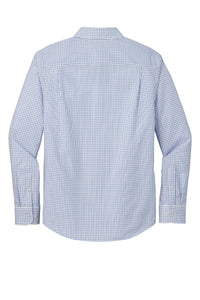 Red House ® Open Ground Check Non-Iron Shirt-Medium Blue/ White