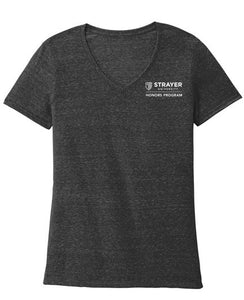 HONORS JERZEES ® Ladies Snow Heather Jersey V-Neck T-Shirt - Black