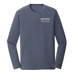 ALUMNI New Era® Heritage Blend Long Sleeve Crew Tee NAVY HEATHER